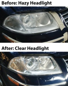 Before & After Headlight Restoration